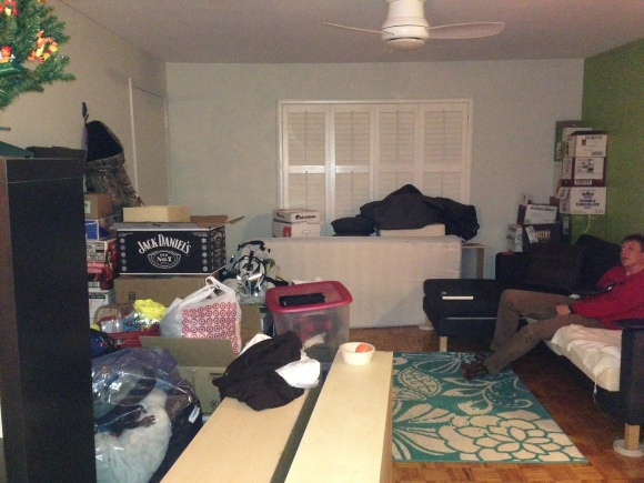 This is what the house looked like when Alex first moved in his stuff.