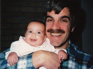 And here's a vintage Kira and Dad smile.